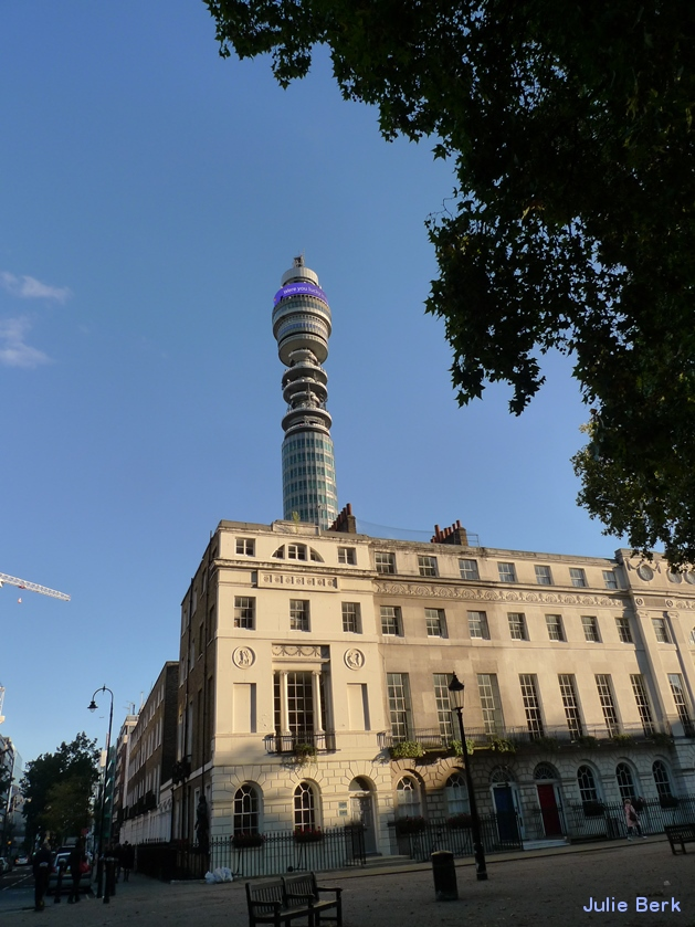Post Office Tower from Fitzroy Square