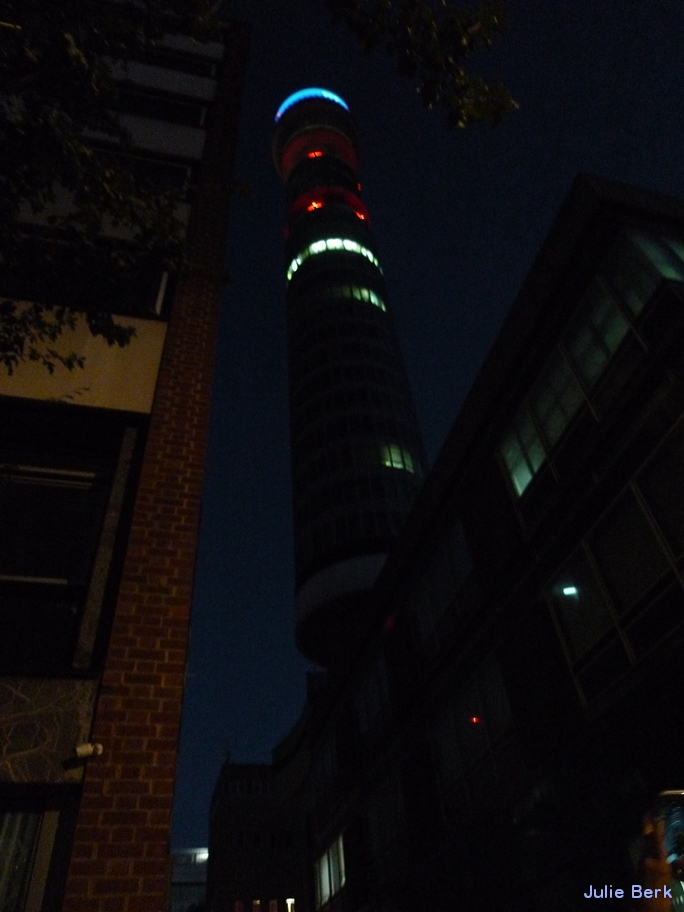 post office tower night
